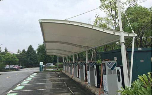 充电桩车棚-膜结构